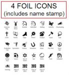 Name Stamp AND 4 Foil Icons