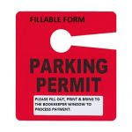 PARKING PERMIT FORM ONLY
